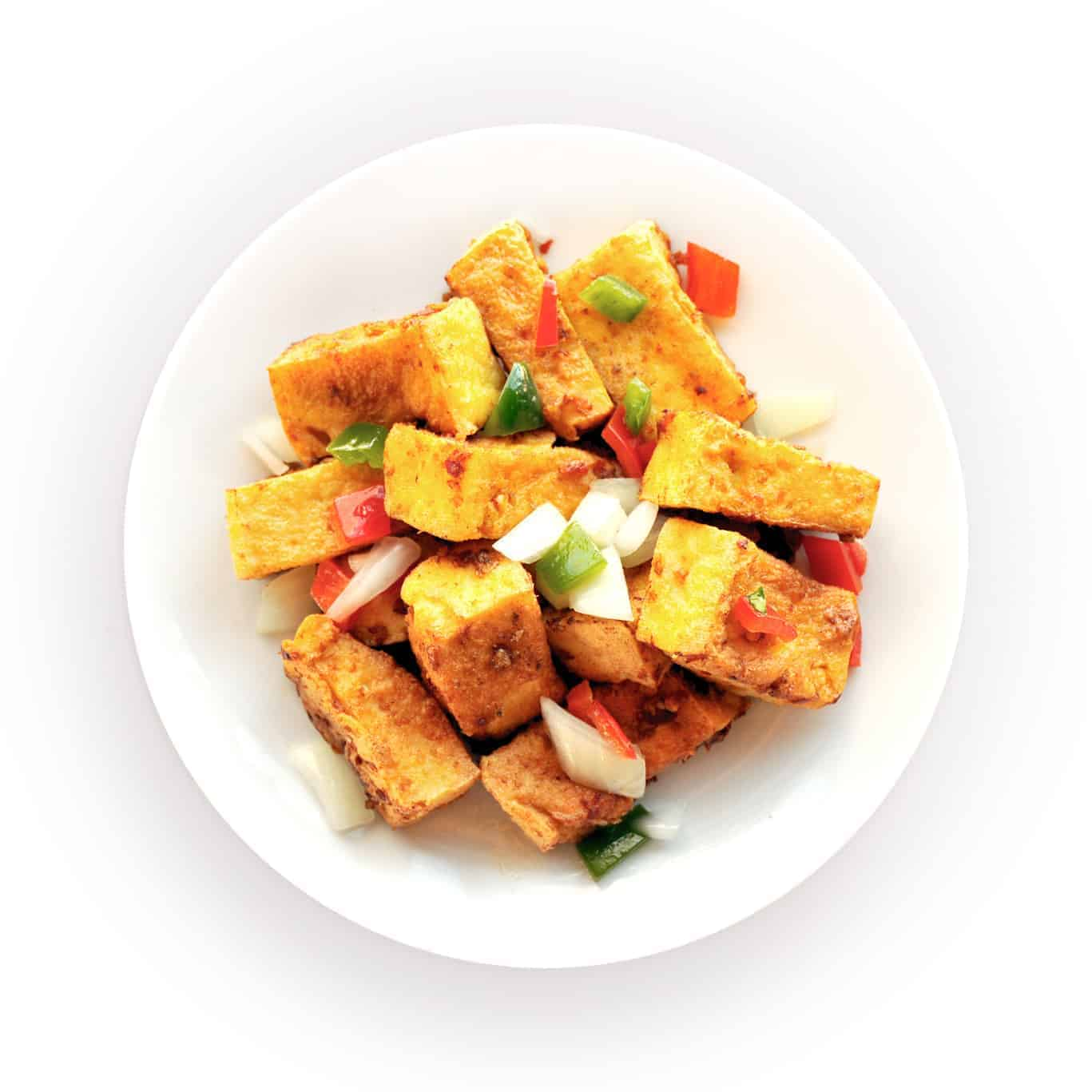 Crispy Chili Pepper Tofu Appetizer