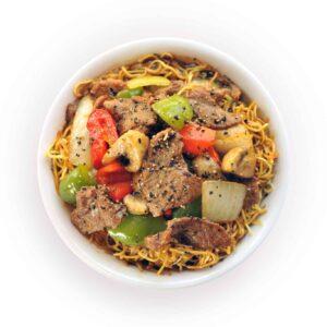 Black Pepper Crispy Noodle Bowl