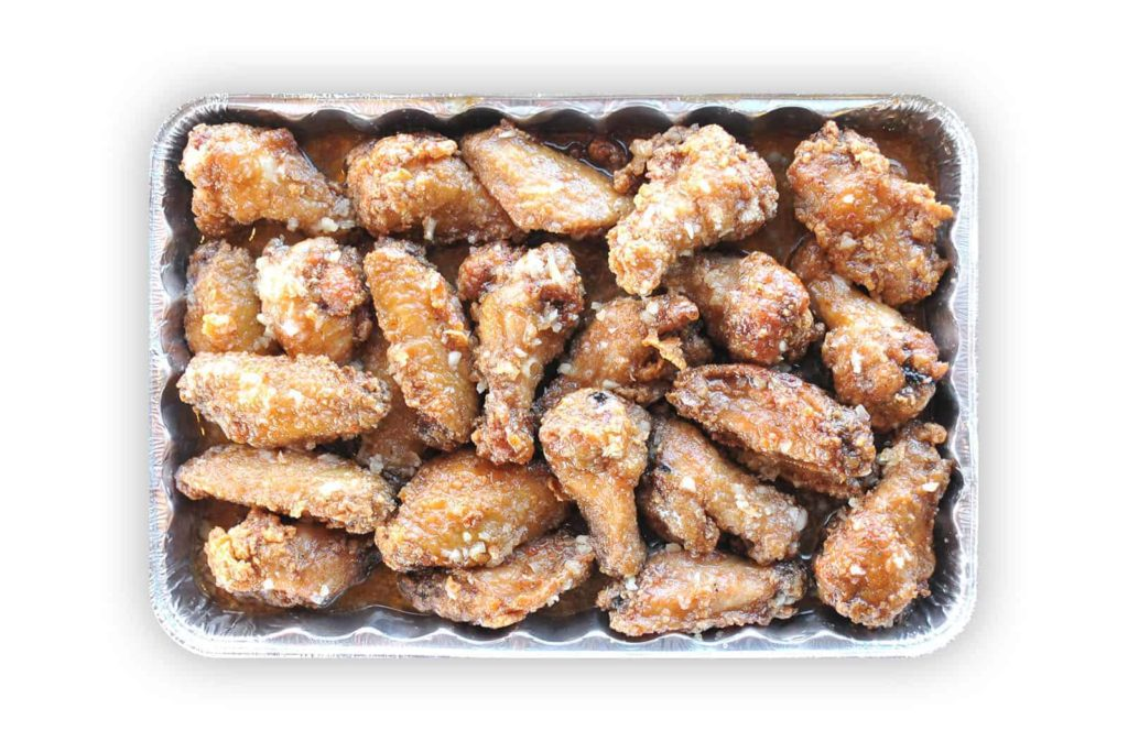 Korean Fried Chicken Wings Honey Garlic Catering Size