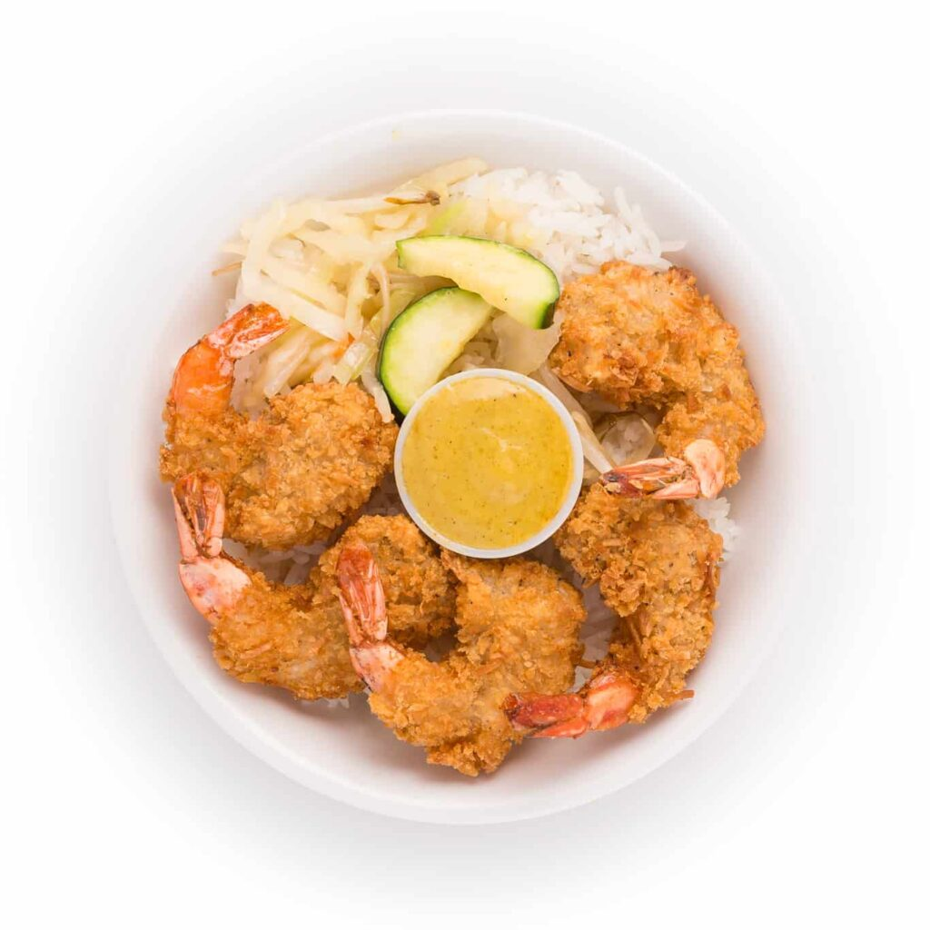 Jumbo Coconut Shrimp Bowl