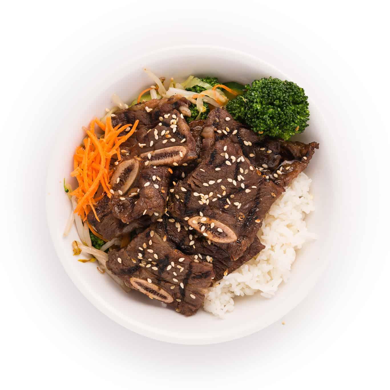 Korean BBQ Beef Rib Bowl