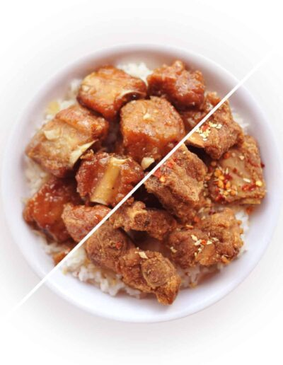 Filipino Spicy Garlic Ribs Bowl