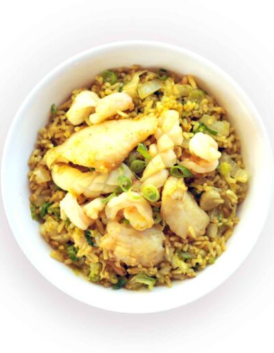 Seafood Curry Fried Rice Bowl