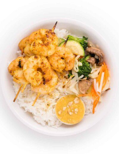 Shrimp Satay Bowl