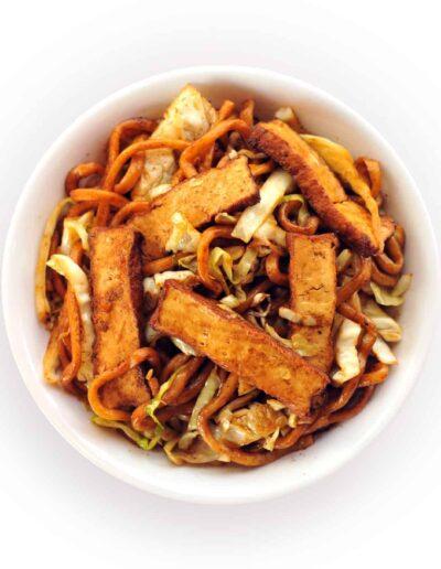 Stir Fried Thick Noodle Bowl