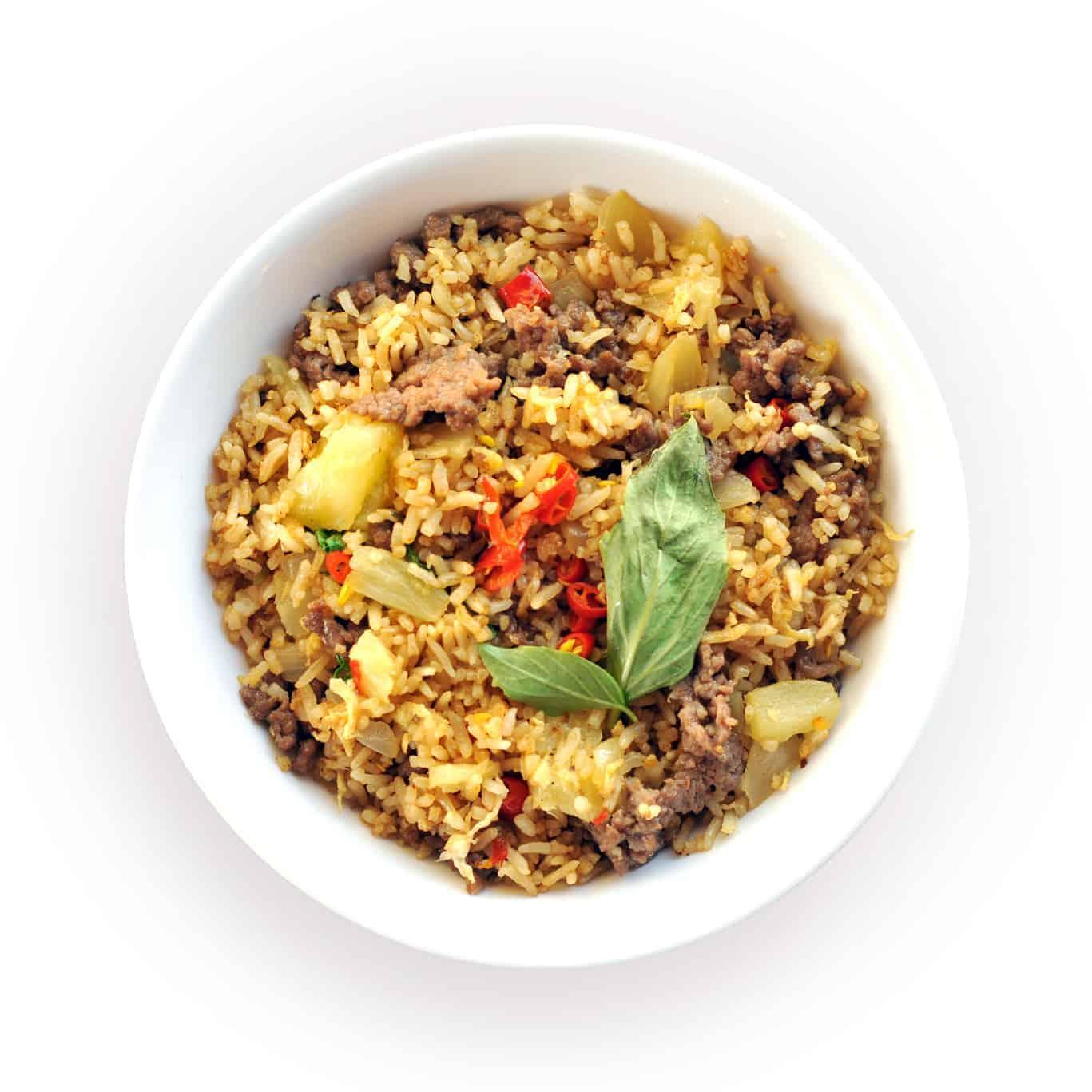 Thai Beef Pineapple Fried Rice