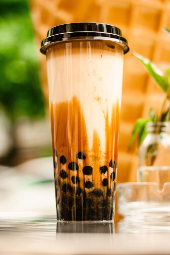 Tall cup of bubble Tea