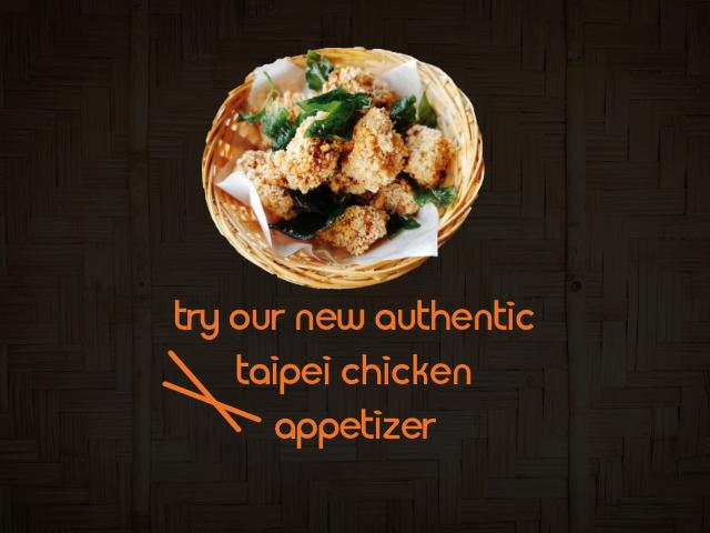 Taipei Chicken Appetizer Promotion